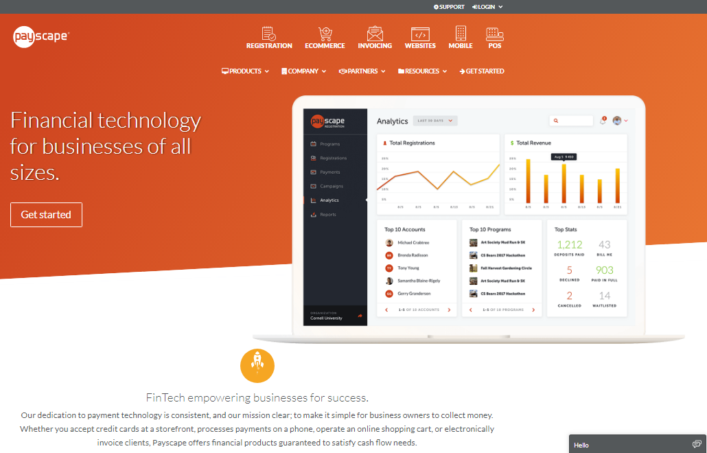 Payscape webpage